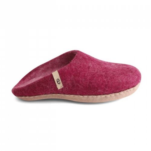 Women's Wool Slippers - Cerise